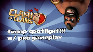Clash of clans - Hog rider spotlight (pro gameplay w/ tutorial)
