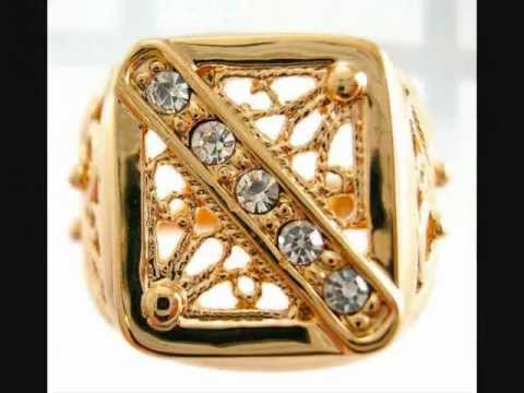 wholesale gold jewelry gold plated rings platinum jewellery