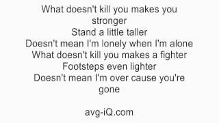 Stronger What Doesn't Kill You by Kelly Clarkson acoustic guitar instrumental cover with lyrics