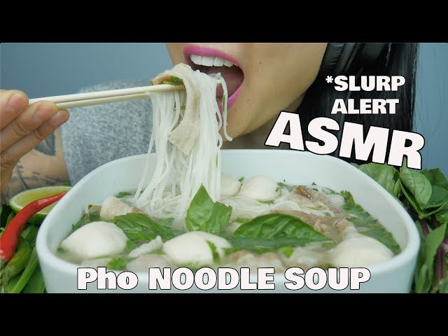 ASMR PHO NOODLE SOUP (SLURPING EATING SOUNDS) NO TALKING | SAS-ASMR