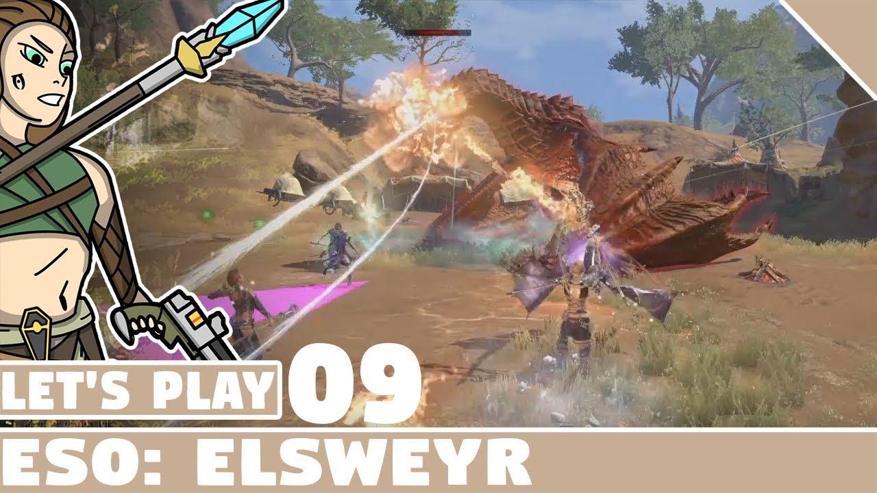 DRAGON! #09 Let's Play Elder Scrolls Online Elsweyr!