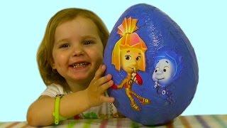 Фиксики большое яйцо с сюрпризом открываем игрушки Mega big surprise egg Fixiki toys