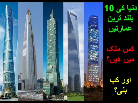 Worlds Top 10 Buildings With Country.  Duniya Ki 10 Buland Emarten Kab Bani