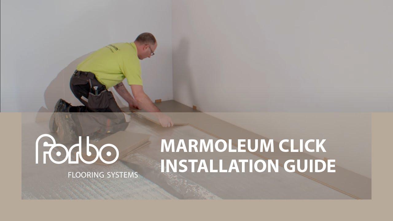 Marmoleum click installation guide youtube