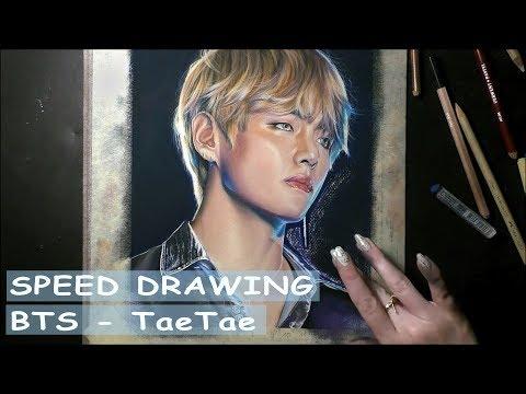 [SPEED DRAWING] BTS Taehyung / 방탄소년단 태형 - Pastel Art