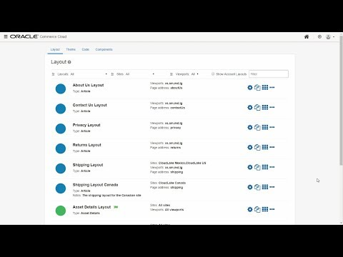 Oracle Commerce Cloud: Create and Manage Layouts