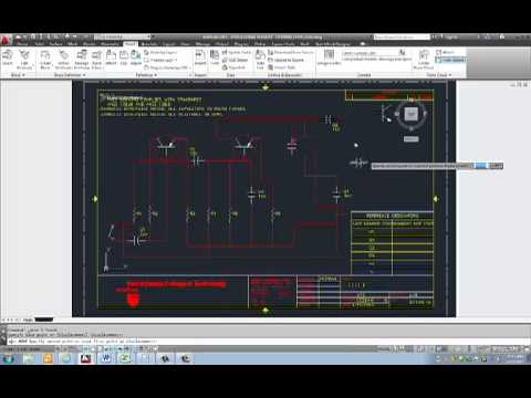 Electrical Schematic Diagram AutoCAD 2013 & Electrical Schematic Diagram AutoCAD 2013 - YouTube