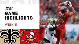 Download Saints vs. Buccaneers Week 11 Highlights | NFL 2019 Mp3 and Videos