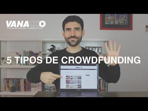 Los 5 tipos de crowdfunding