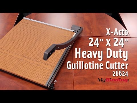 """X-Acto 24"""" x 24"""" Heavy Duty Guillotine Cutter - 26624"""
