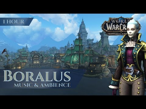 Boralus - Music & Ambience (1 Hour, 4K, World Of Warcraft Battle For Azeroth Aka BfA)