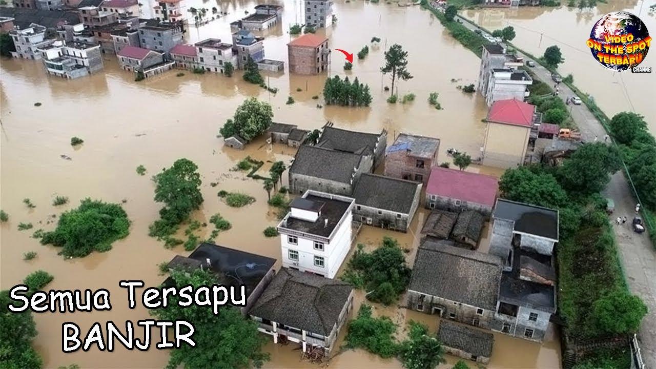 Banjir Menerjang Kota ini, Jalan Raya Seketika Berubah Jadi Sungai.!! // Peristiwa² Alam 2020