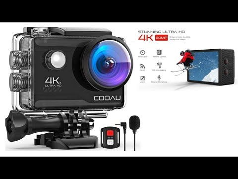 CooAU 4K 20MP Action Camera with Wifi - unboxing & review