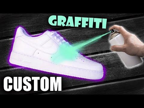 GRAFFITI Custom Air Force 1!! - Jordan Vincent