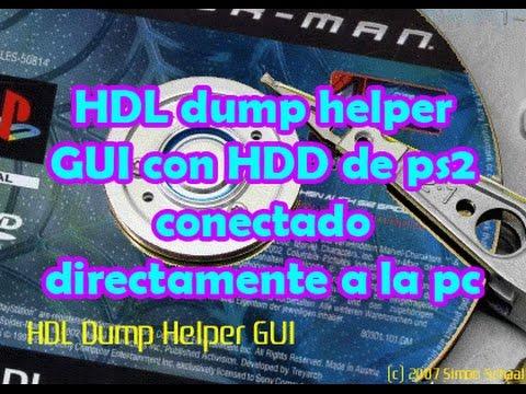 Pasar Juegos directamente al HDD de ps2 (HDL Dump Helper GUI con HDD por usb)