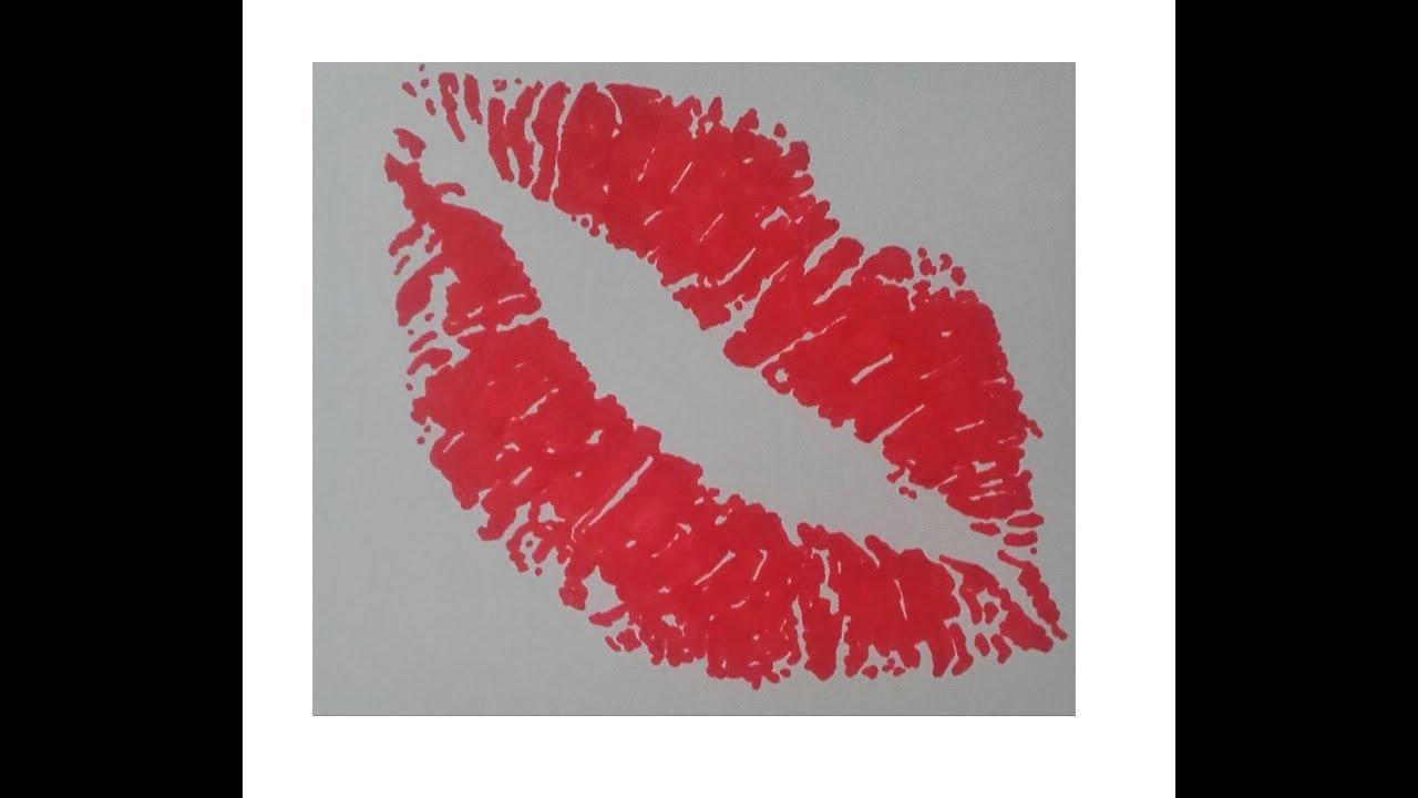 Super dessiner une trace de rouge à lèvre ( promarker ) speed drawing  HD63
