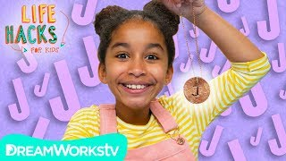 Easy Personalized Initial Necklace + More Hacks For YOU! | LIFE HACKS FOR KIDS