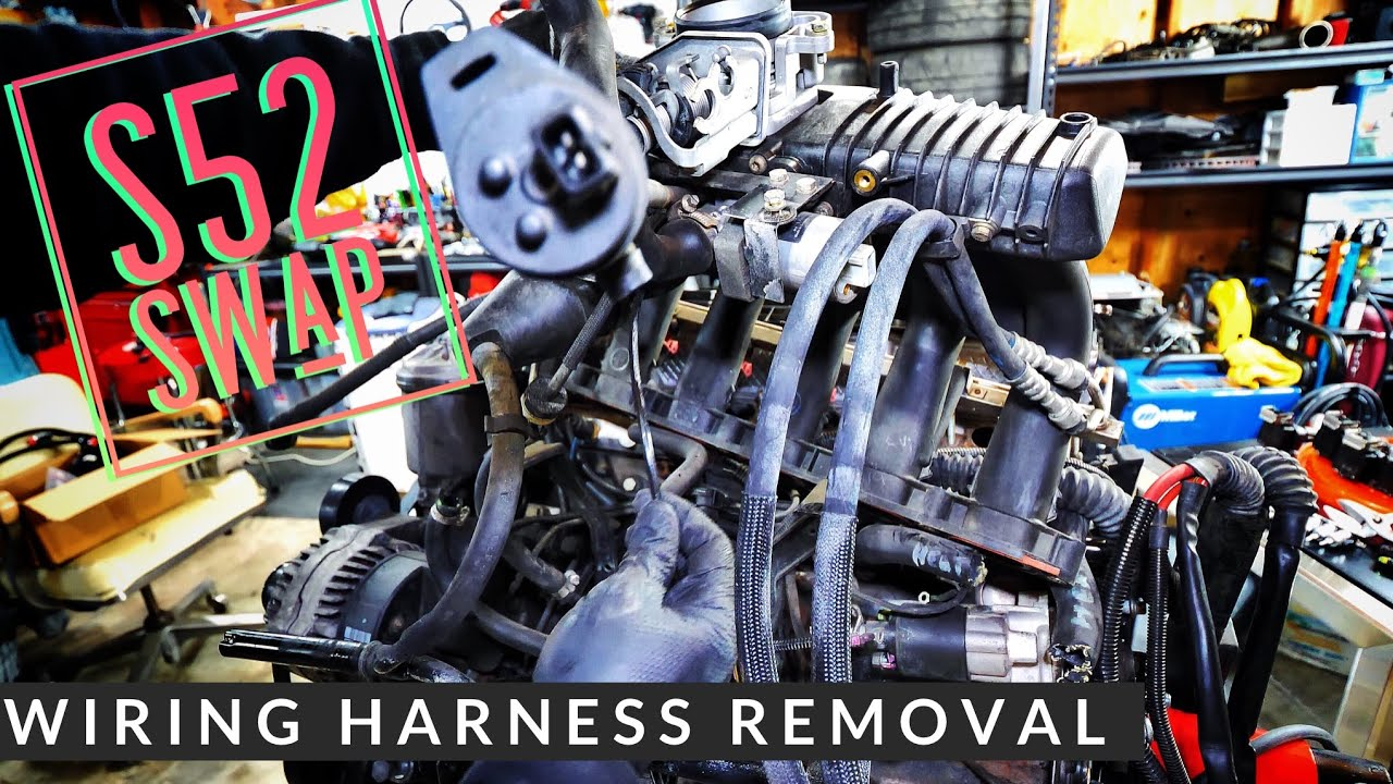 BERTY 30 E30 S52 Swap Wiring Harness OBDII Removal Episode 2 [4K] on