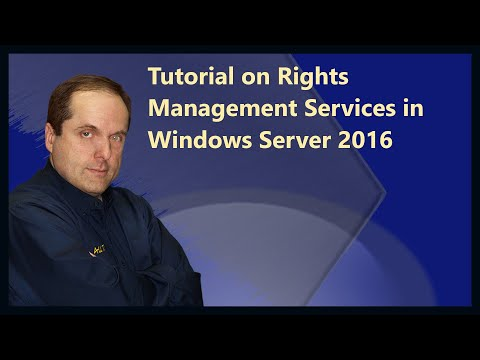 Tutorial on Rights Management Services in Windows Server 2016