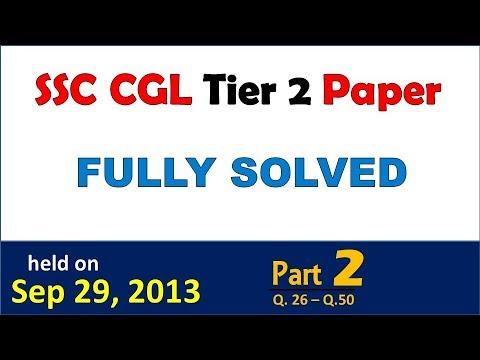 Pdf cgl paper question tier 2013 1