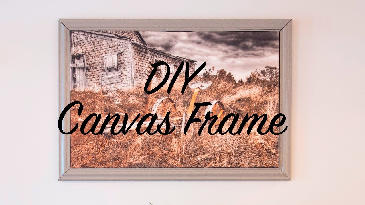 DIY Frame for Canvas Picture - YouTube