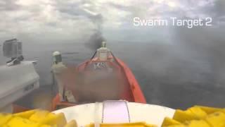 USS Coronado LCS 4 30mm and 57mm Live Fire Test against Swarm Raid