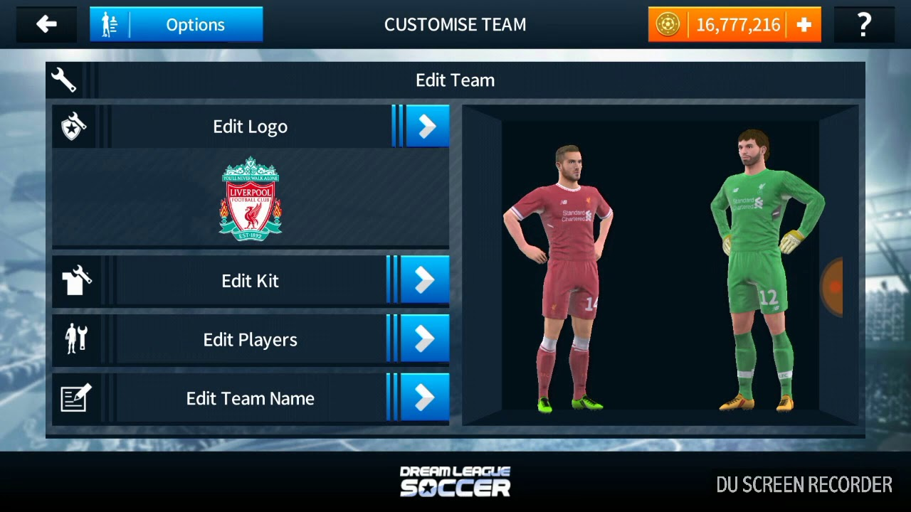 Liverpool kits, logo and Anfield DLS 2018