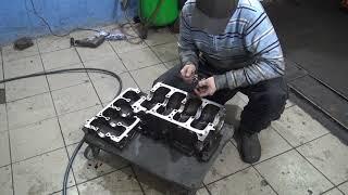 Сборка низа блока цилиндров Крайслер Вояджер 2,4. chrysler voyager ремонт