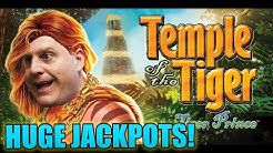 🐯 HUGE JACKPOT$ ON TEMPLE OF THE TIGER 🐯 18 FREE GAMES