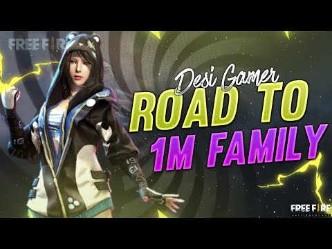 ROAD TO 1 Million || Free Fire Live - DESI ARMY (NO PROMOTION)