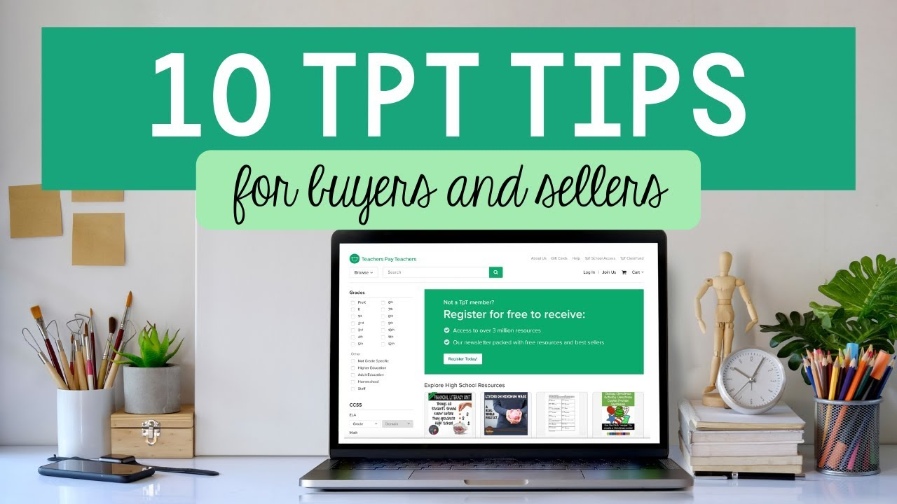 Teachers Pay Teachers Tips For Buyers And Sellers Youtube