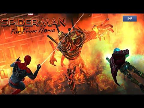 Dans la main Marvel legends spider-man Far from Home Molten Homme BAF Set-Complet