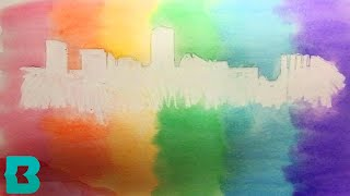 Download Take Home Craft Kit February 27: Watercolor Skyline