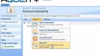 Setup e-mail alert notifications in SharePoint 2007