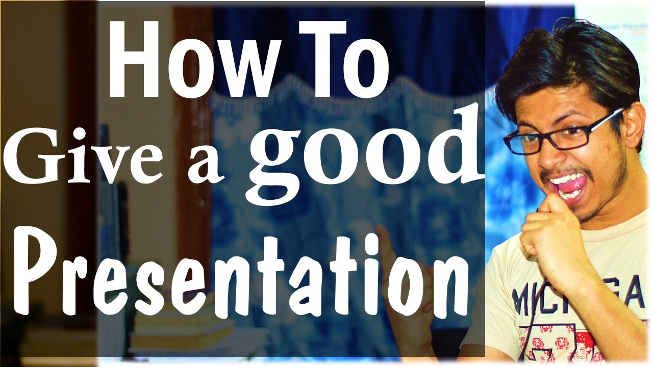 How to give a good presentation in college for students