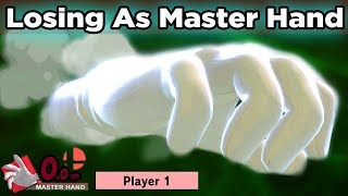 What Will Happen When You Lose The Game While Playing As Master Hand in Super Smash Bros Ultimate?