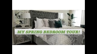 MY NEWLY DECORATED SPRING BEDROOM TOUR|| ELEGANT BEDROOM TOUR