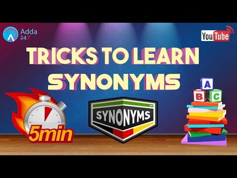 Tricks To Learn Synonyms | English for SSC CGL 2017