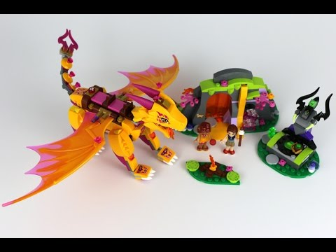 41175 >> Lego Elves 2016 Fire Dragon S Lava Cave Review 41175 Youtube
