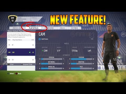 FIFA 18 | Pro Clubs Player Style - New Feature Explained