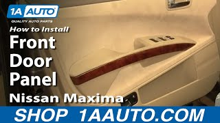 How to Remove Front Door Panel 04-08 Nissan Maxima