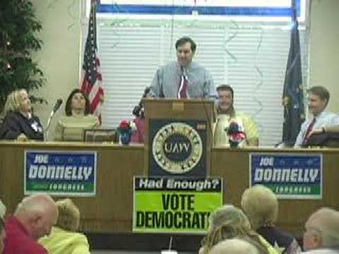Joe Donnelly Rallies UAW Members with Evan Bayh