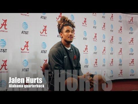 Alabama QB Jalen Hurts talks Houston floods, Florida State