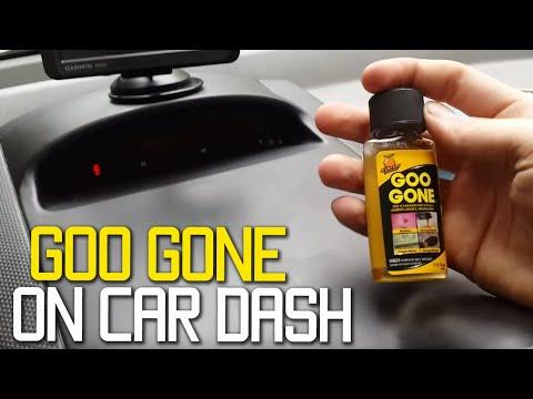 Goo Gone On Car Dashboard