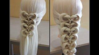 Коса на резинках -