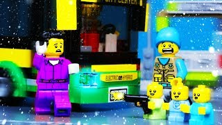 Lego Baby Bus Robbery Fail | Lego City Stop Motion