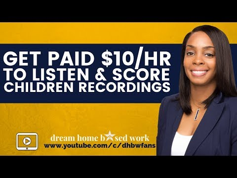 Get Paid $10/hr Online. Work From Home & Score Children Recordings