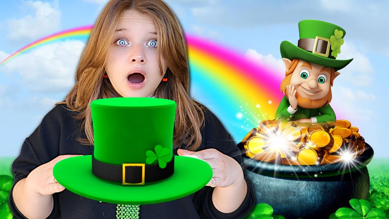 DON'T PICK the WRONG LEPRECHAUN HAT! LEPRECHAUN GAMES with AUBREY and CALEB
