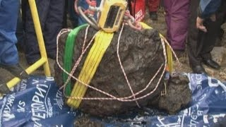 Massive meteorite chunk recovered in Russia from Lake Cherbarkul