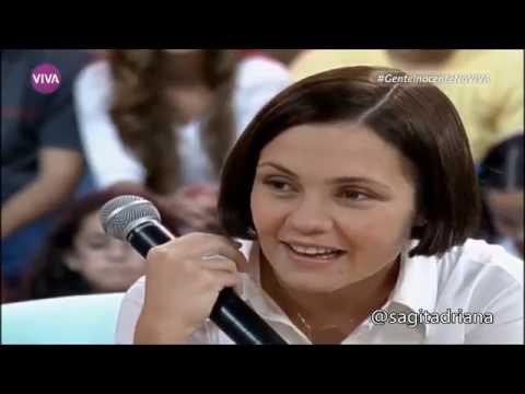 Adriana Esteves em entrevista ao programa Gente Inocente